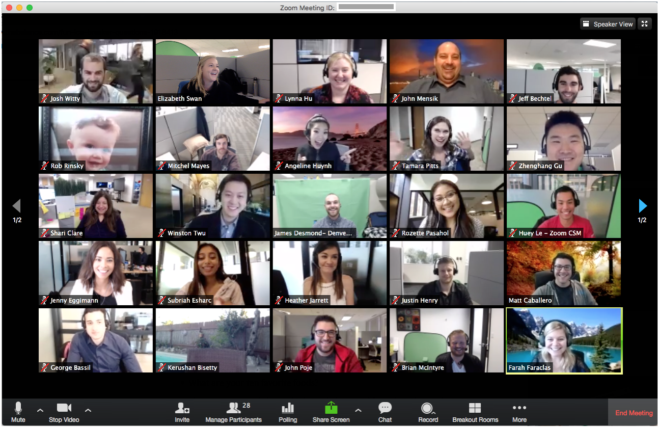 Larger groups, webinars, and training sessions are easy with Zoom.