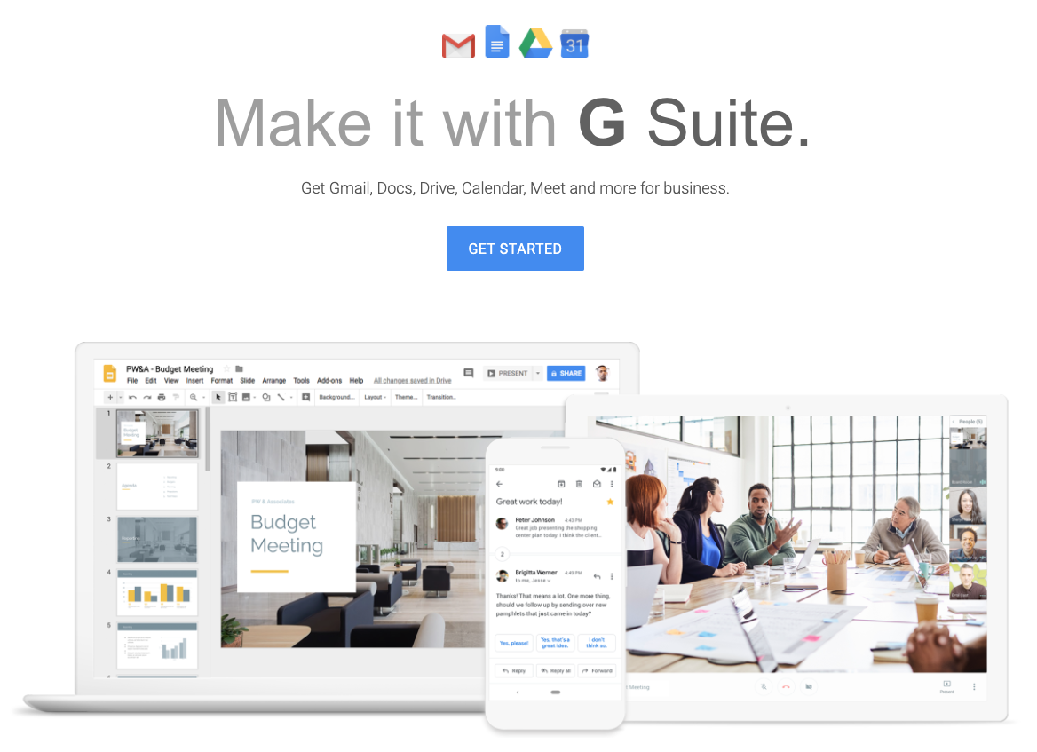 Similar to Office 365, our team prefers G Suite for it's range of fundamental office tools like email, calendar, documents, spreadsheets, and file storage.