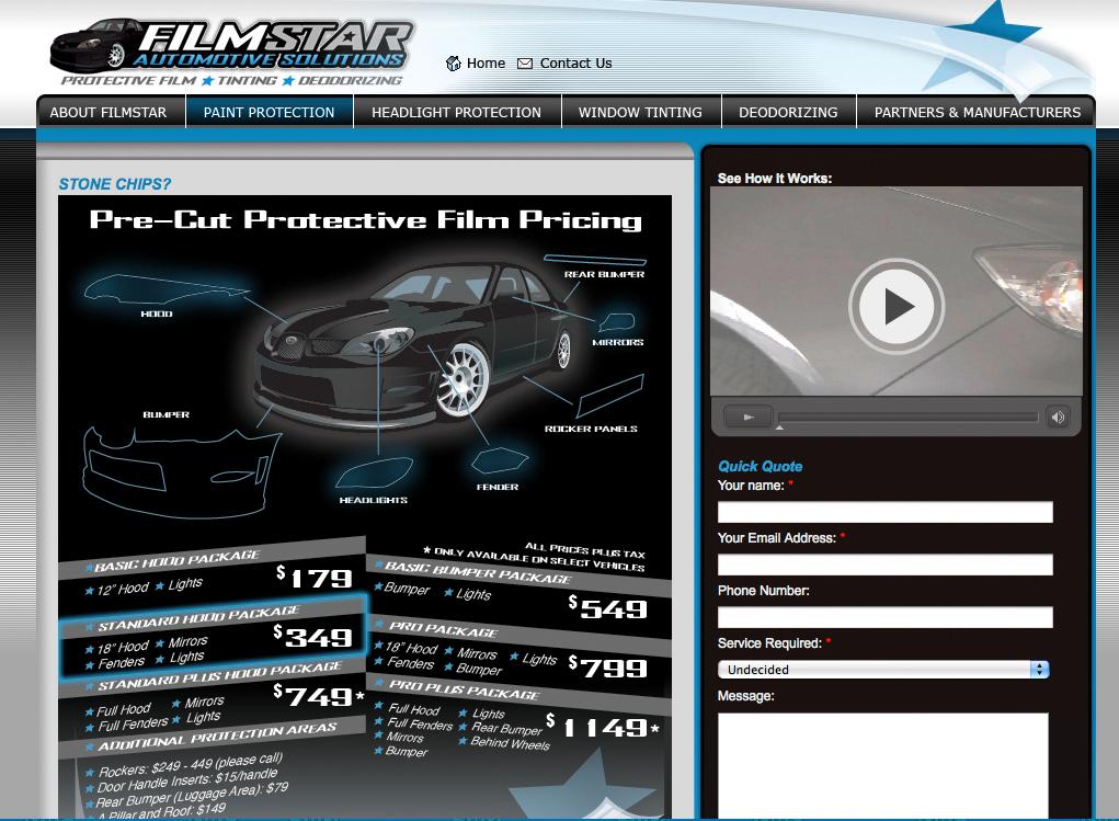 FilmStar Auto Website | Twin Creek Media