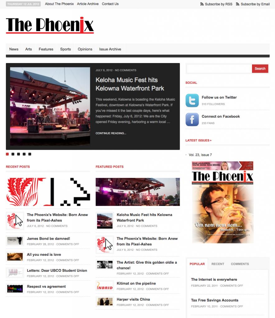 The Phoenix News Website