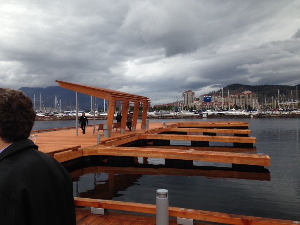 Downtown Marina Kelowna - The new docks will hold 20-40ft boats, and a small rental fleet. Kelowna Yacht Club in the background.