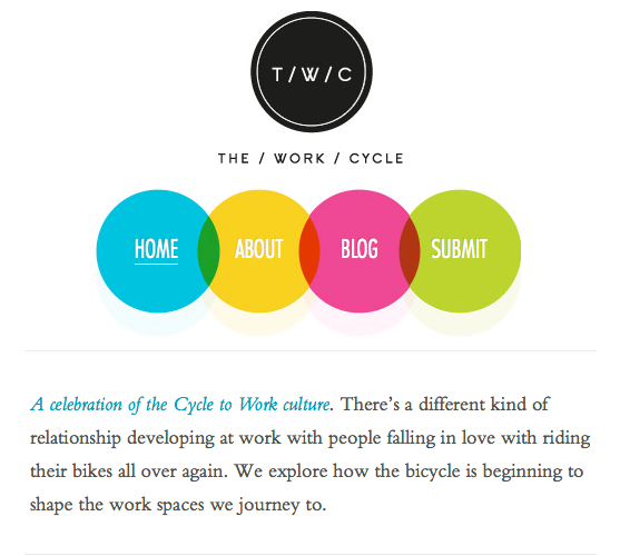The Work Cycle mobile website view