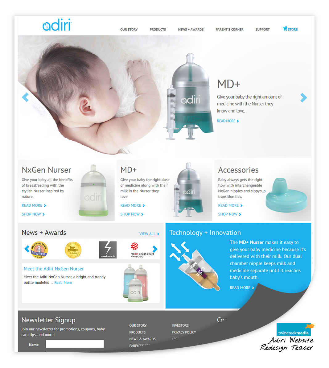 Adiri Kelowna Website by Twin Creek Media