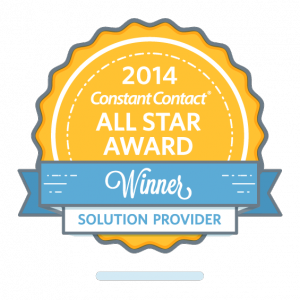 Constant Contact All Star Award 2014