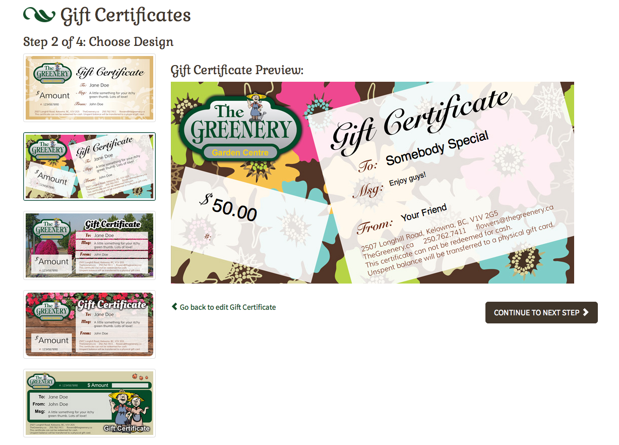 Online gift certificates can add profit without tying up your staff's time - win/win.
