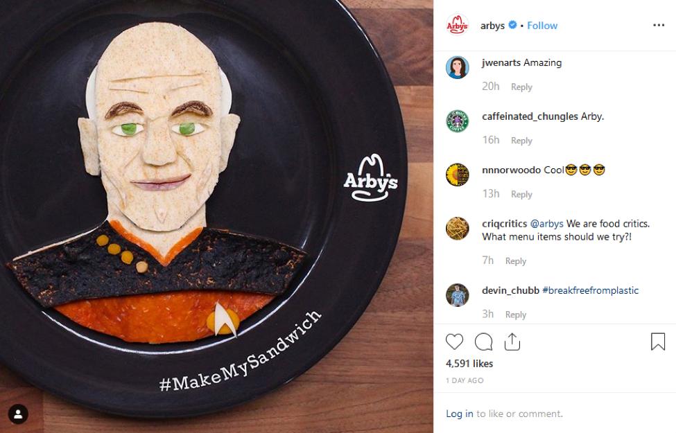 Arby's Instagram Make My Sandwich Campaign