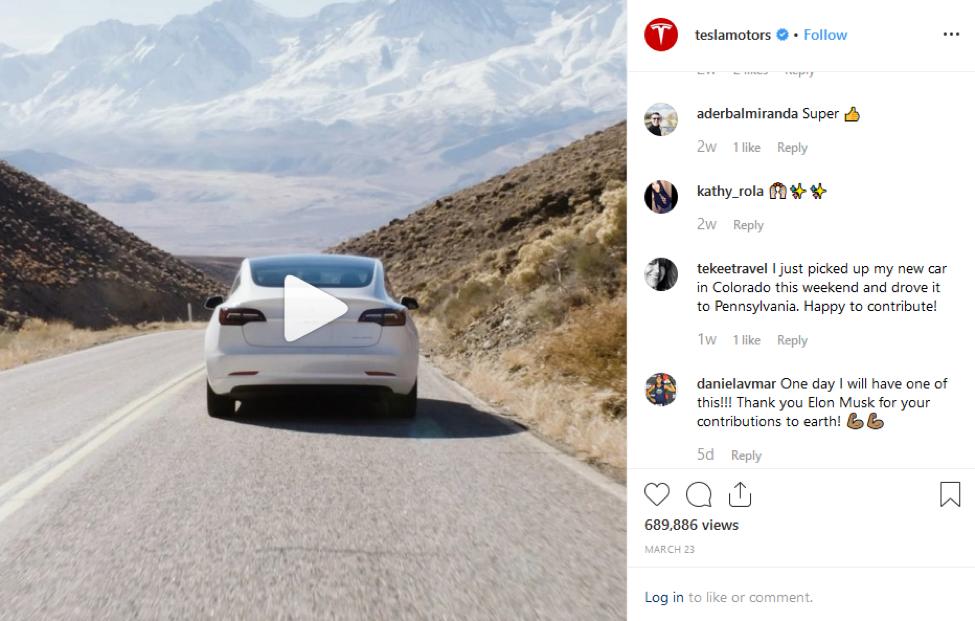 Tesla Instagram