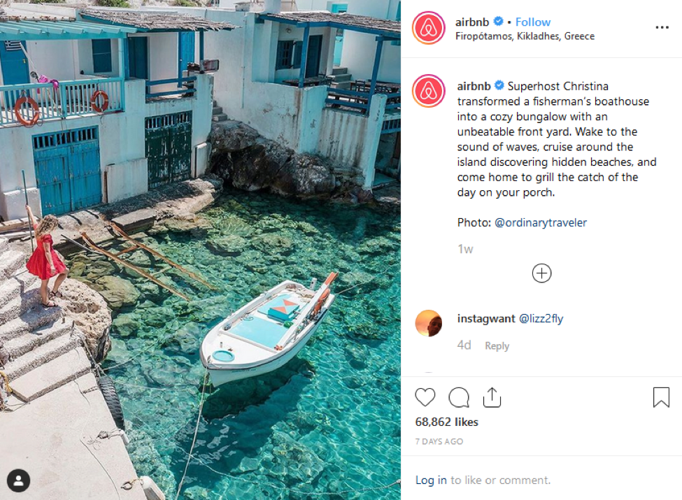 AirBnB Instagram User-Generated Content Feed